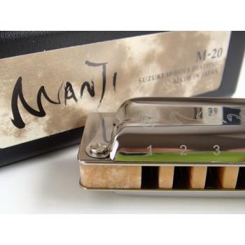 Gaita Blues Diatônica Suzuki Manji M-20 Fá (F)