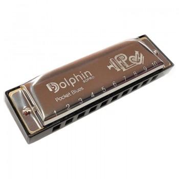 Gaita Blues Diatônica Dolphin Pocket 20 Vozes (c) Dó Cromada