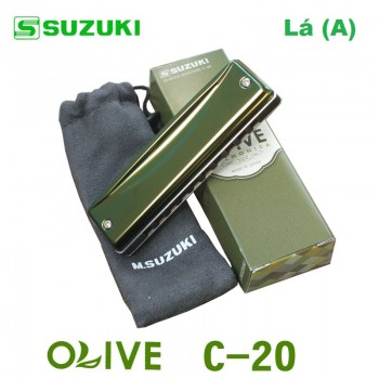 Gaita Blues Diatônica Olive Suzuki C-20 Lá (A)