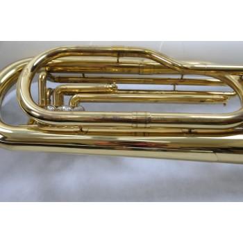 Tuba Dolphin 3 Pistos modelo 270 Mi Bemol Laqueada com Campana em Fibra de Vidro